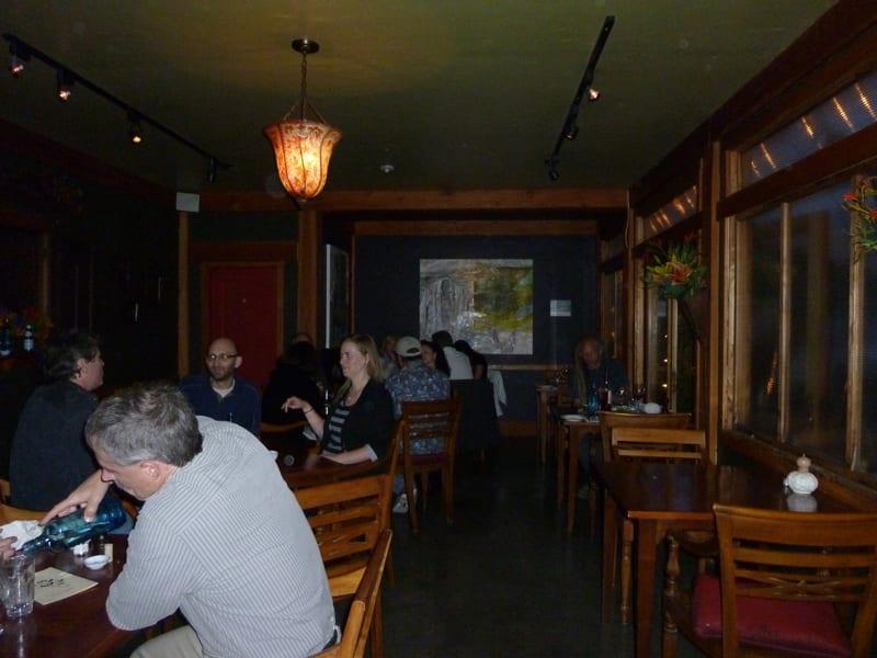 Dining room of the Backdoor Kitchen - Friday Harbor, San Juan Island WA
