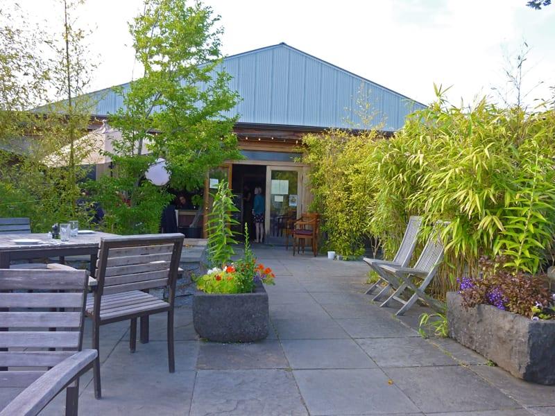 The Backdoor Kitchen dining patio - Friday Harbor, San Juan Island WA
