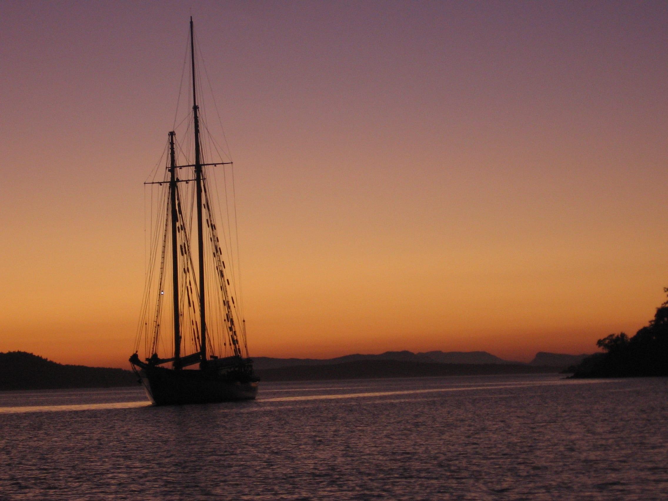 Sunset at Parks Bay, San Juan Islands