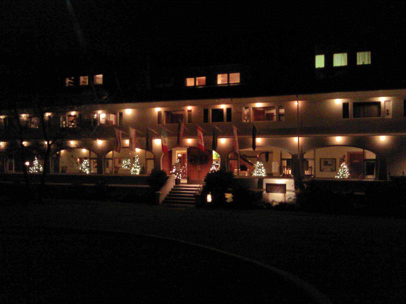 Rosario Resort's Moran Mansion at Night