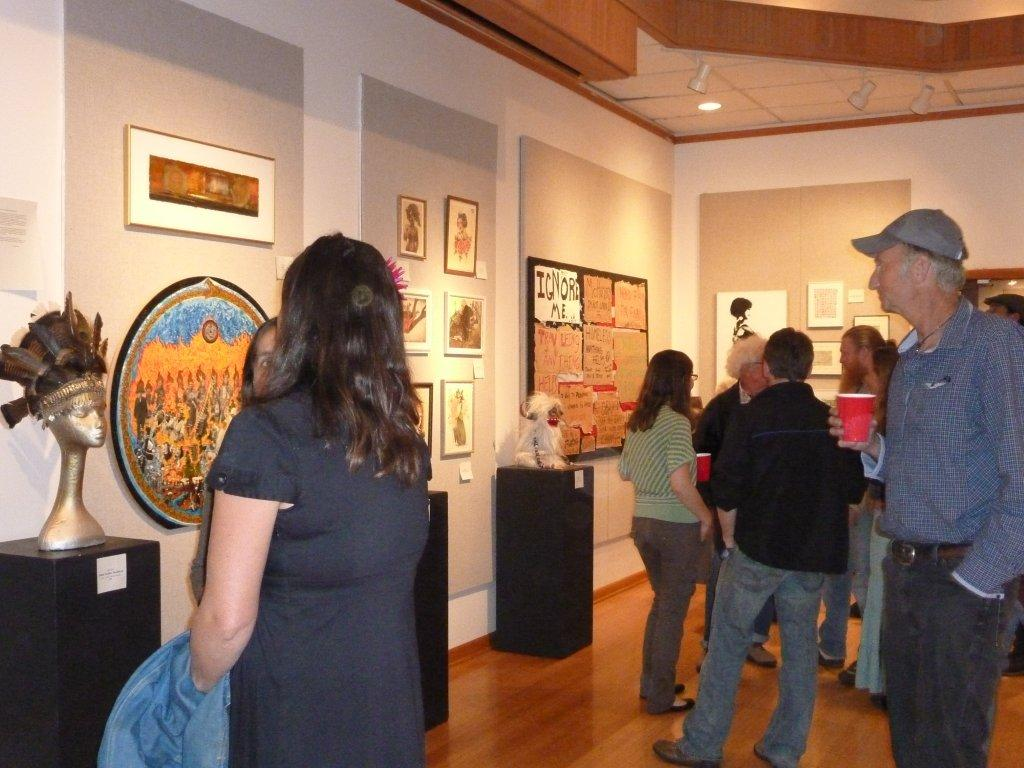Opening night of the Edge art show at Orcas Center, Orcas Island WA