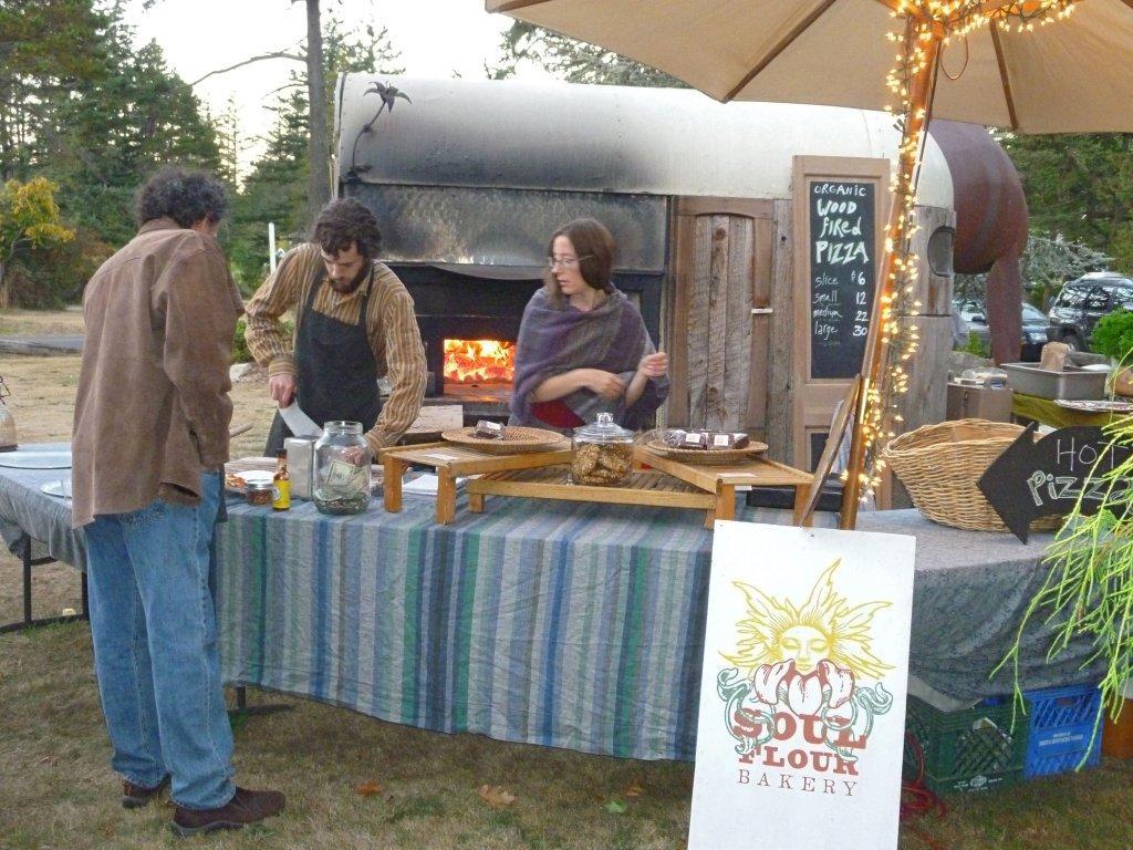 Soul Flour Bakery wood-fired pizza on Orcas Island