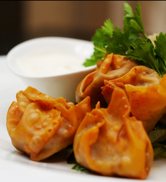 Butternut Squash, Cranberry and Cheddar Wontons