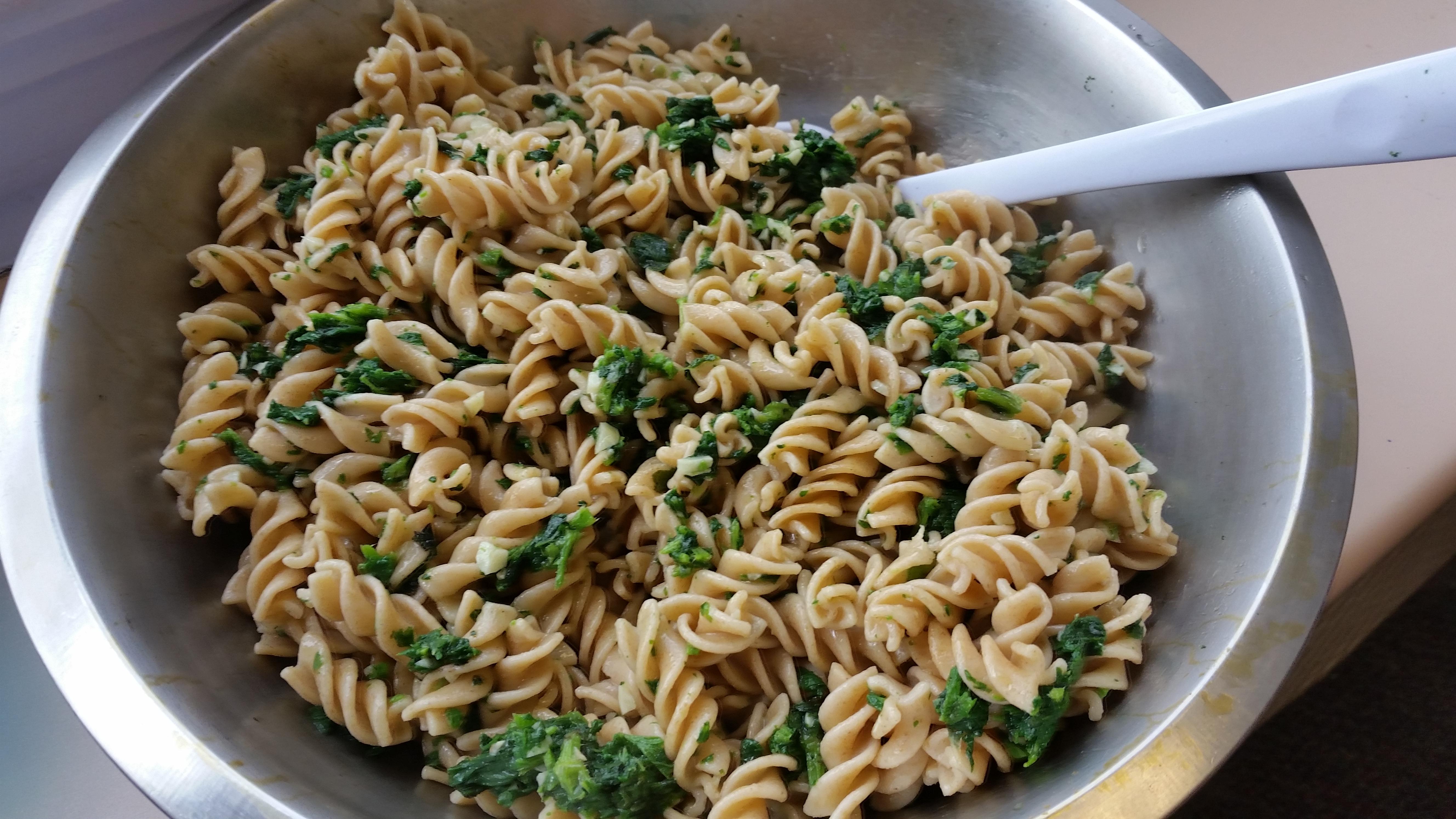 Stinging nettle pasta!