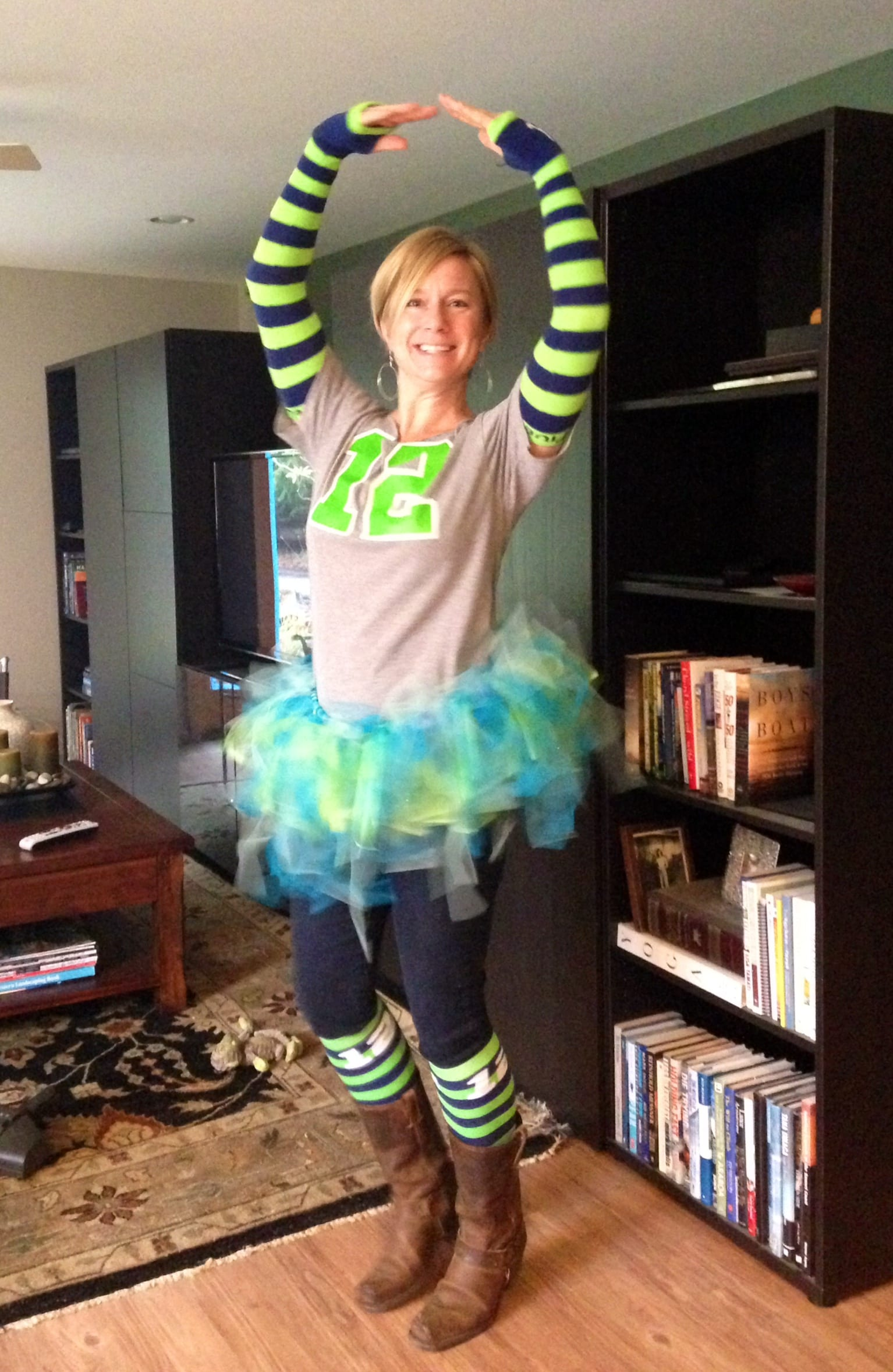 Our very own Beth Holmes and her tutu-go hawks!!!
