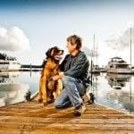 Murphy and Bob at the Deer Harbor dock