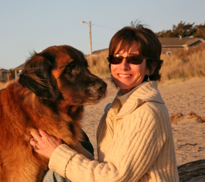Sandi Friel with Leonberger Murphy