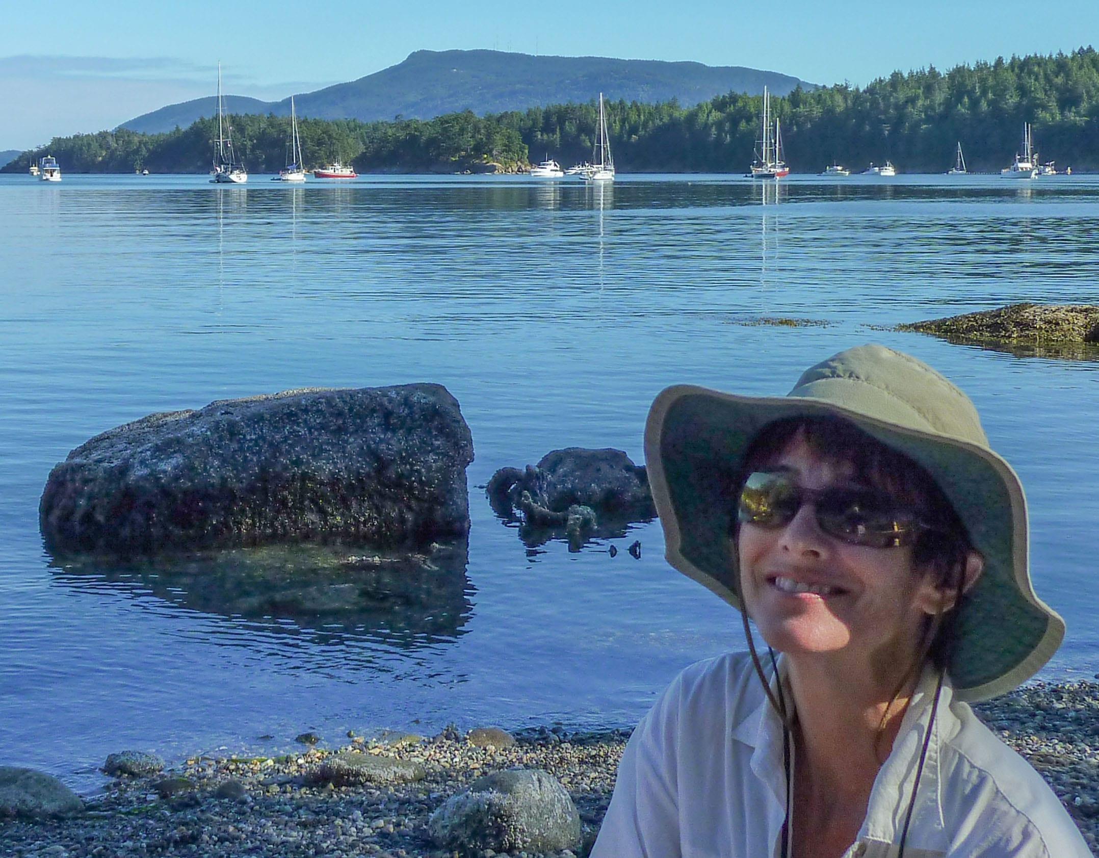 Sandi Friel at Sucia Island